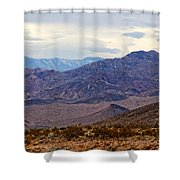 Death Valley Mountains Shower Curtain
