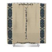 Dempsey Written In Ogham Shower Curtain