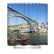 Dom Luis Bridge Porto Portugal Shower Curtain