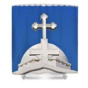 Dome Of Agios Georgios Chapel Shower Curtain