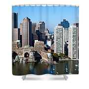Downtown Boston Skyline Shower Curtain