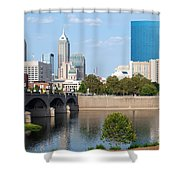 Downtown Indianpolis Indiana Skyline Shower Curtain