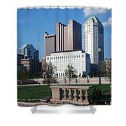 Downtown Skyline Of Columbus Shower Curtain
