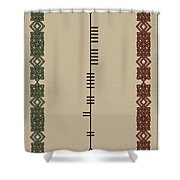 Dunne Written In Ogham Shower Curtain