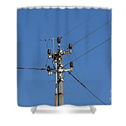 Electric Pylon Shower Curtain