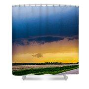 Elm Creek Nebraska Supercell Shower Curtain