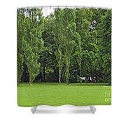 English Garden Munich Germany Shower Curtain