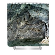 Eroded Marble Shoreline Shower Curtain