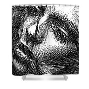 Facial Expressions Shower Curtain