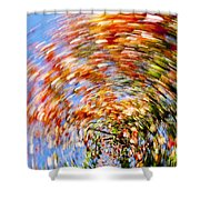 Fall Abstract Shower Curtain
