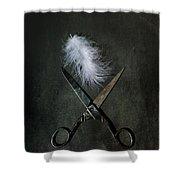 Feather Shower Curtain by Joana Kruse