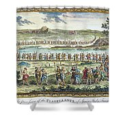 Flagellants Middle Ages Shower Curtain