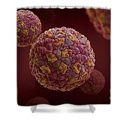Foot-and-mouth Disease Virus Shower Curtain