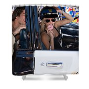 Ford Diplomat Police Car Shower Curtain