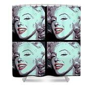 4 Frame Marilyn Pop Art Shower Curtain