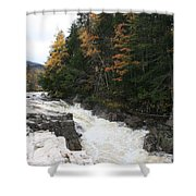 Franconia Notch White Mountians Shower Curtain