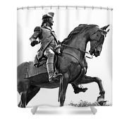 George Washington Statue Boston Ma Shower Curtain