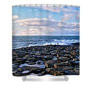 Giant's Causeway Coast Shower Curtain