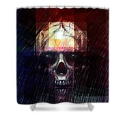 Halloween Mask Shower Curtain