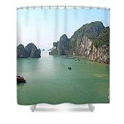 Halong Bay In Vietnam Shower Curtain