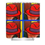 4 Hats Shower Curtain