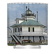 Hooper Straight Lighthouse Shower Curtain