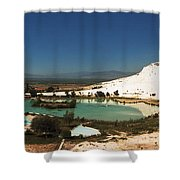 Hot Springs And Travertine Pool Shower Curtain