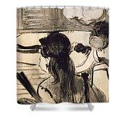 Illustration From La Maison Tellier By Guy De Maupassant Shower Curtain
