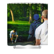 Into The Park Shower Curtain