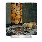 Jar Of Peaches Shower Curtain