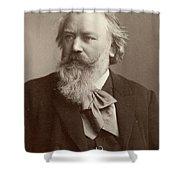 Johannes Brahms (1833-1897) Shower Curtain