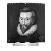 John Donne (1572-1631) Shower Curtain