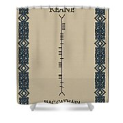 Keane Written In Ogham Shower Curtain