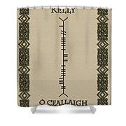 Kelly Written In Ogham Shower Curtain