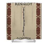 Kennedy Written In Ogham Shower Curtain