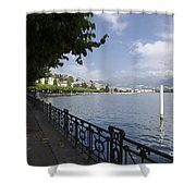 Lake Front With Trees Shower Curtain