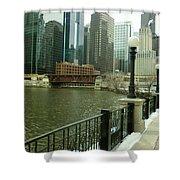Lake Street Bridge Shower Curtain