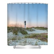 Sullivan's Island Dunes To Lighthouse View Shower Curtain
