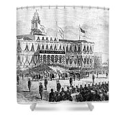 Lincoln's Funeral, 1865 Shower Curtain