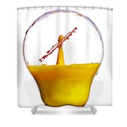 Liquid Coronet  Shower Curtain
