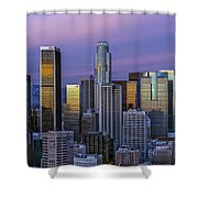 Los Angeles Skyline Sunset Shower Curtain