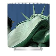 Low Angle View Of Statue Of Liberty Shower Curtain