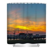 Harbor Lowcountry Sunset Shower Curtain