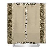 Macnamara Written In Ogham Shower Curtain