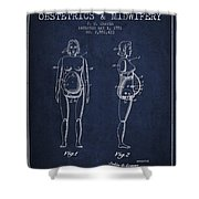 Manikin For Teaching Obstetrics And Midwifery Patent From 1951 - Shower Curtain