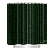 Matrix Green Shower Curtain