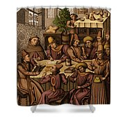 Medieval Accountants, 1466 Shower Curtain