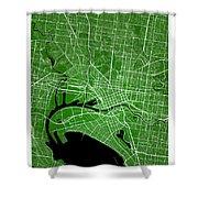 Melbourne Street Map - Melbourne Australia Road Map Art On Color Shower Curtain