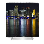 Miami Downtown Skyline Shower Curtain