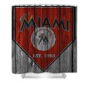 Miami Marlins Shower Curtain